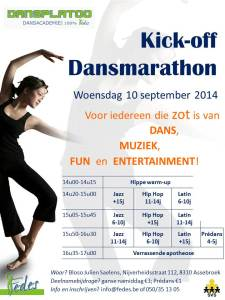 Kick-off Dansmarathon (10 september 2014)