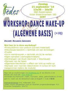 Workshop Dance make-up algemeen (21 september 2014)