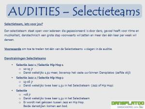 Audities Selectieteams 2014-2015 Dansplatoo