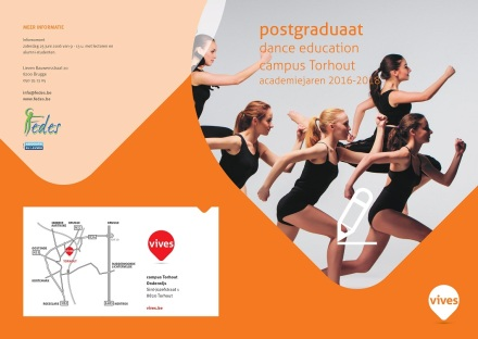Flyer Postgraduaat Dance Education 2016 2018 cover
