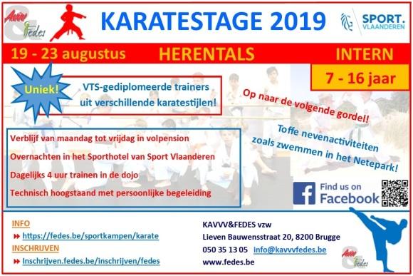 Flyer Karate 2019 (bijgesneden)