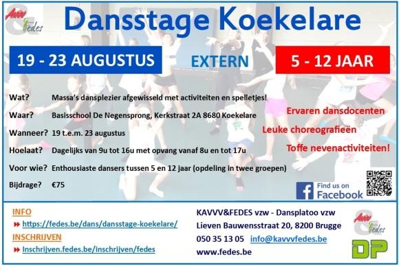 Dansstage Koekelare - Flyer