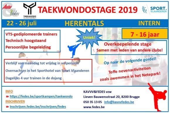Flyer Taekwondo 2019 (bijgesneden)