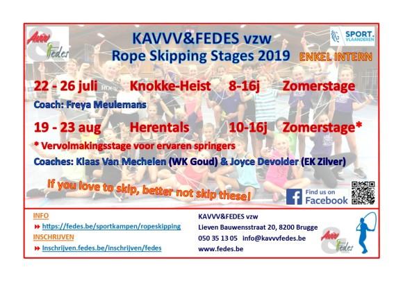 Ropeskipping flyer 2019