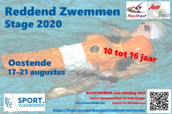Flyer Reddend Zwemmen 2020