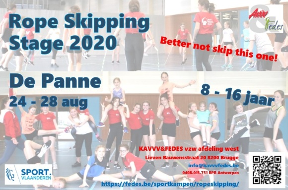 Rope skipping flyer 2020