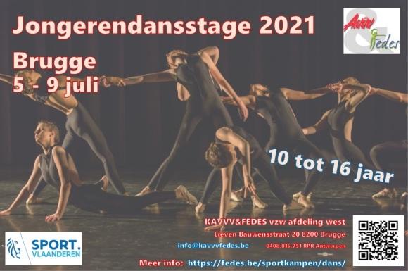 Jongerendansstage 2021 Flyer