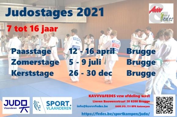 Judostages 2021 Flyer (zekere stages vóór kerst 2020)